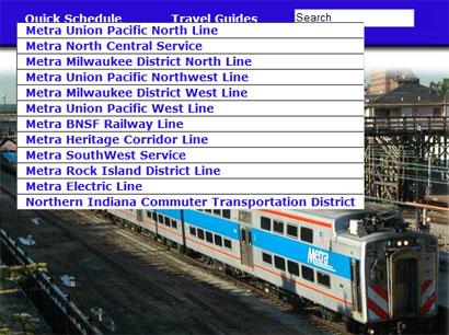 Metra Schedule Navigation